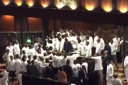 Депутаты подрались из-за премьера и попали на видео