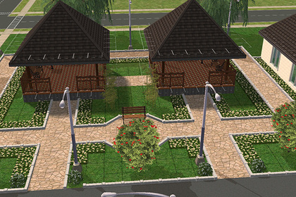 Российское село благоустроили в Sims 2