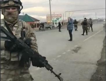 Взрыв смертницы в Грозном попал на видео