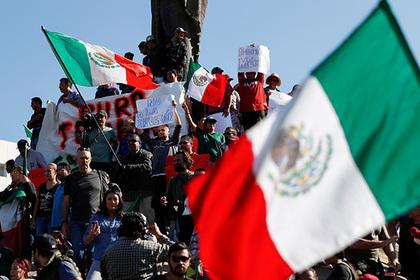 Мексиканцы вышли протестовать против нелегальной миграции