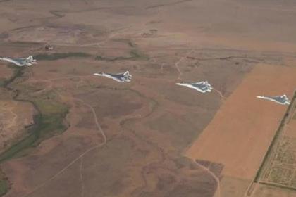 Су-57 выполнил «кленовый лист»