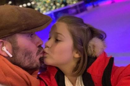 Чмокнувший дочь Бэкхем вдохновил отцов на поцелуи с детьми