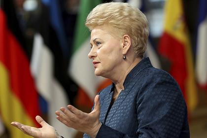 Президент Литвы заявила об угрозах после введения антироссийских санкций