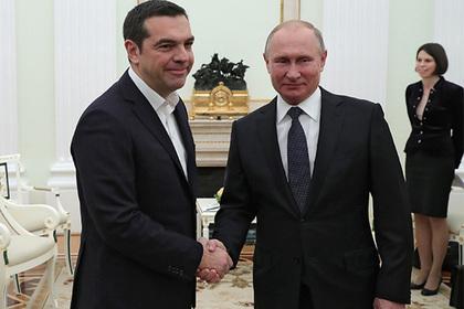 Ципрас попросил у Путина галстук