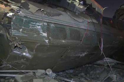 Появилась видеозапись с места крушения поезда в Анкаре