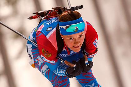 Российская биатлонистка впервые за два года завоевала медаль Кубка мира
