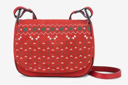 Рождественский джемпер превратили в сумку