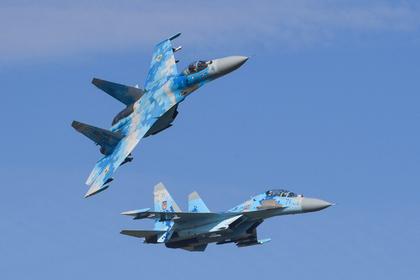 Су-27 разбился на Украине