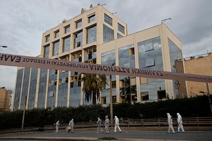 У офиса греческого телеканала произошел взрыв