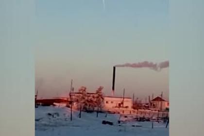 Падение фрагментов ракеты «Союз» в Якутии попало на видео