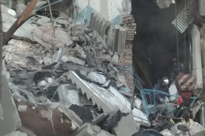 Момент взрыва многоэтажки в Магнитогорске попал на видео