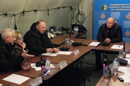 Путин поблагодарил спасателей за работу в Магнитогорске