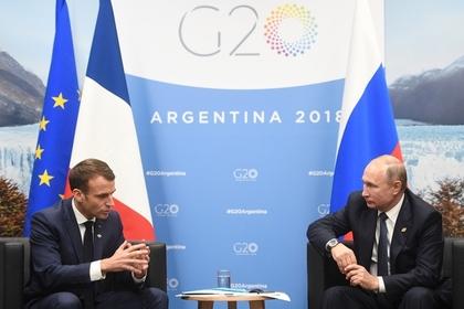 Путин пообщался с Макроном