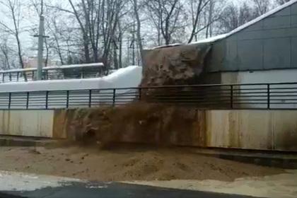 Тоннель на Волоколамском шоссе затопило