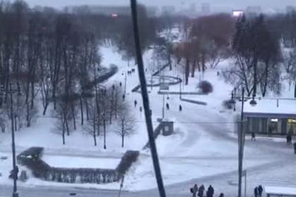 Сбивающий сосульки с петербургской крыши утюг сняли на видео