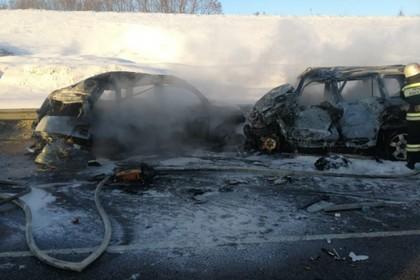 Жертвами аварии под Воронежем стали восемь человек