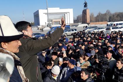 Силовики разогнали митинг обозленных на Китай киргизов