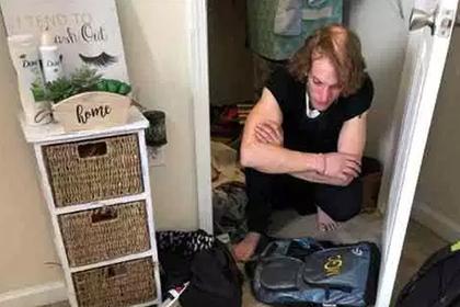 Студентка обнаружила у себя в шкафу прожившего там несколько дней мужчину
