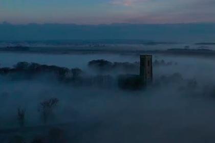Накрывший деревню аномальный радиационный туман попал на видео