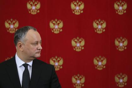 Президент Молдавии отказался отзывать посла из России