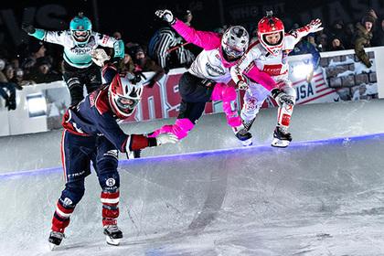 В Бостоне прошел этап чемпионата мира по скоростному спуску на коньках