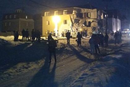 В Красноярске после взрыва обрушился жилой дом