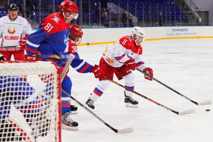 Команда Путина и Лукашенко забросила 16 шайб