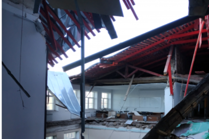 Последствия обрушения петербургского университета сняли на видео