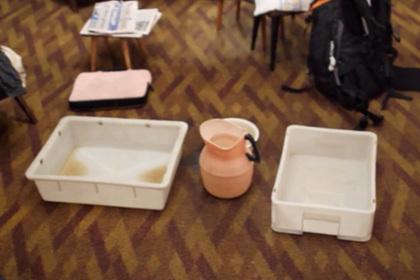 Надувной бассейн спас жительницу Санкт-Петербурга от потопа