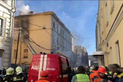 Появилось видео с места пожара в столичной консерватории имени Чайковского