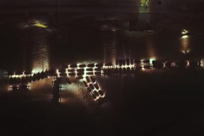 Российские автомобилисты показали на флешмобе автомат и попали на видео