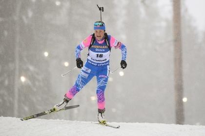 Российская биатлонистка впервые за четыре года выиграла медаль ЧМ