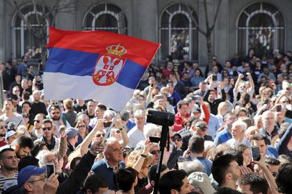 Протестующим сербам пригрозили насилием в ответ на беспорядки