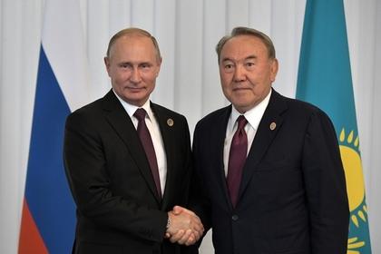 Раскрыто содержание разговора Путина и Назарбаева