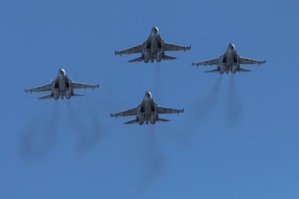 Применение Су-35С тепловых ловушек в Сирии показали на видео