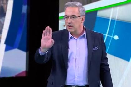 Ведущий НТВ в прямом эфире погнал из студии украинского политолога