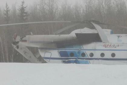 Российский вертолет упал сразу после взлета