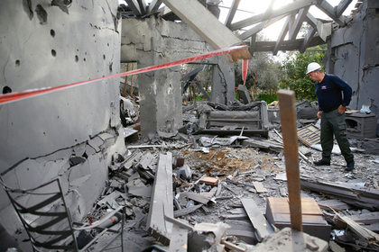 Палестинская ракета попала в жилой дом в Израиле