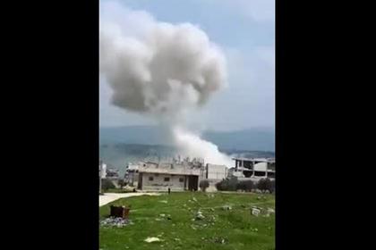 Российский ракетный удар в Сирии попал на видео