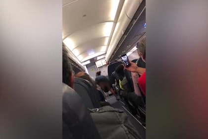 Пьяная авиапассажирка задрала юбку, обматерила попутчиков и попала на видео