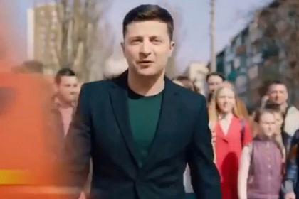 Штаб Порошенко выложил видео со сбивающей Зеленского фурой