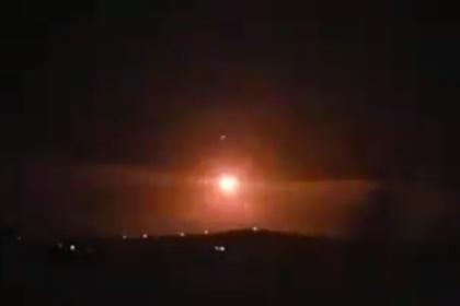 Перехват израильских ракет сирийской ПВО попал на видео