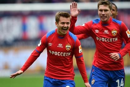 Футболист ЦСКА впервые забил за клуб ударом с центра поля