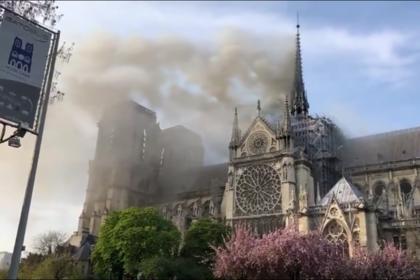 Названа вероятная причина пожара в соборе Парижской Богоматери
