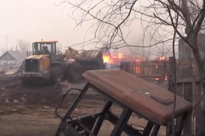 Разрушительные последствия пожаров в Забайкалье сняли на видео