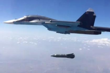 Су-34 сбросил мощнейшую бомбу