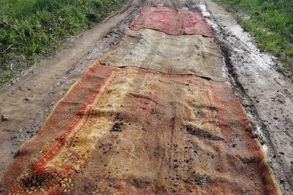 Российские чиновники озадачились поисками устланной коврами дороги