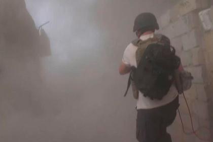 Журналистов обстреляли из танка в Сирии