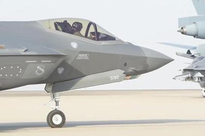 F-35A в «режиме зверя» заметили вблизи Ирана