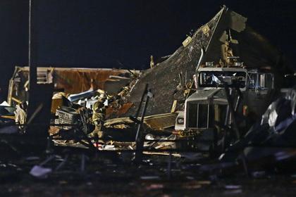 Смертоносный торнадо в Оклахоме сняли на видео